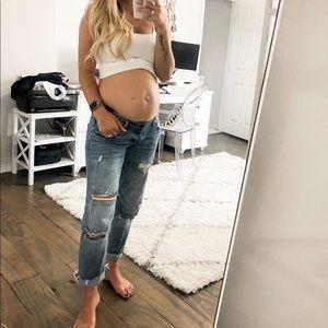 Maternity denim